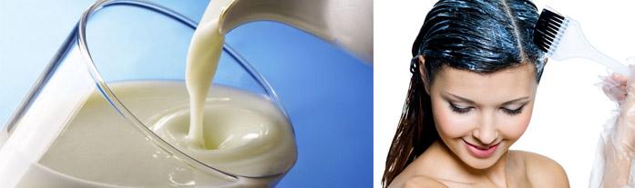 Кефир для увлажнения волос