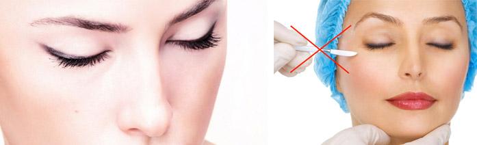 Подтяжка кожи вокруг глаз