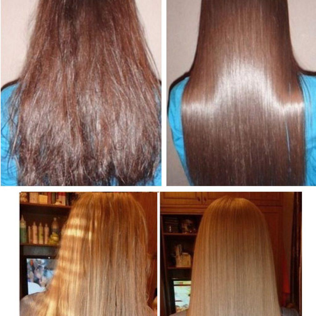 После процедур для лечения волос