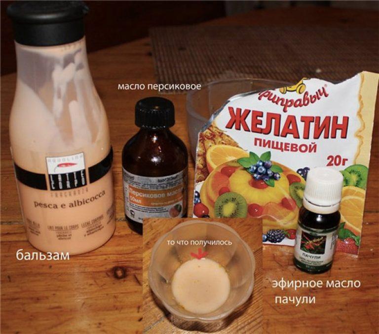 Как сделать для волос желатином