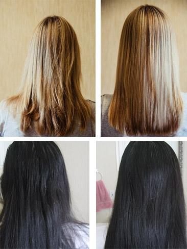 Фото до и после использования масла