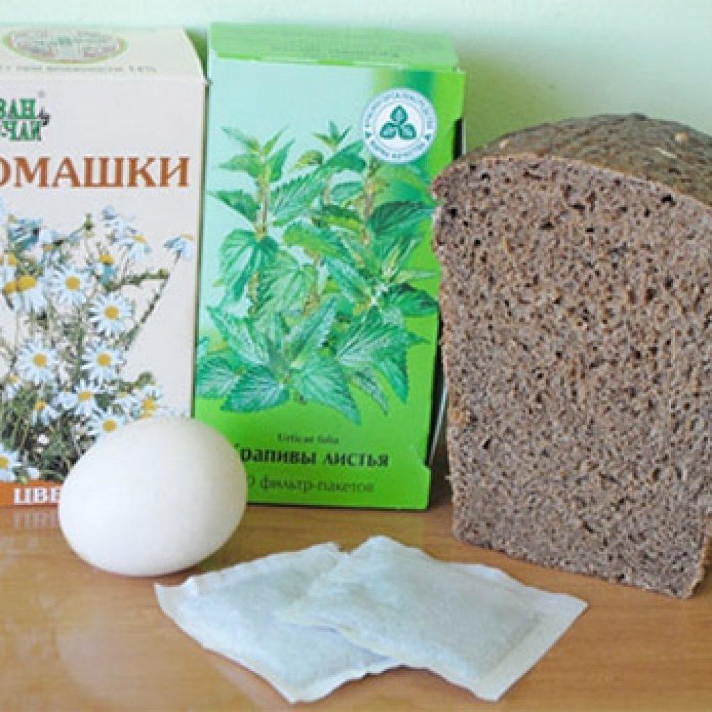 Состав маски с ржаным хлебом
