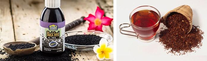 Тминное масло и красный чай