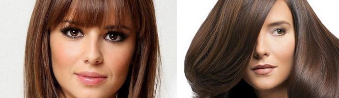 Волосы шоколадного оттенка