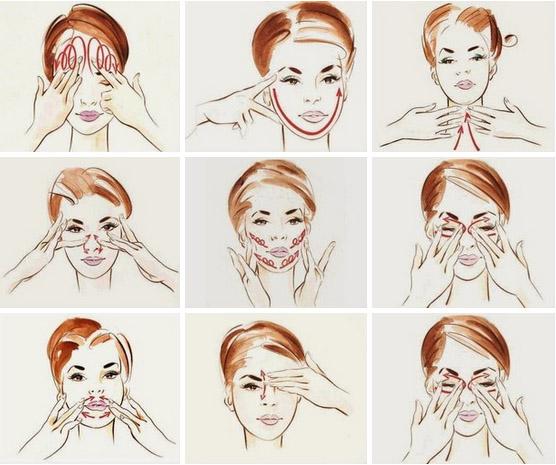 Как проводить массаж лица