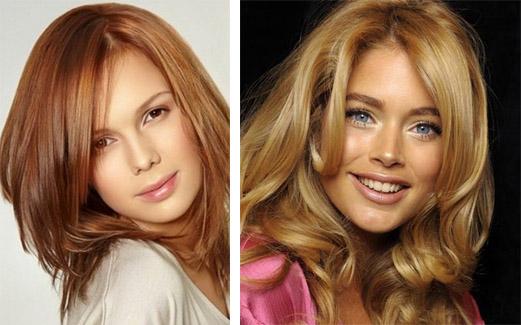 Карамельный и золотистый цвета волос