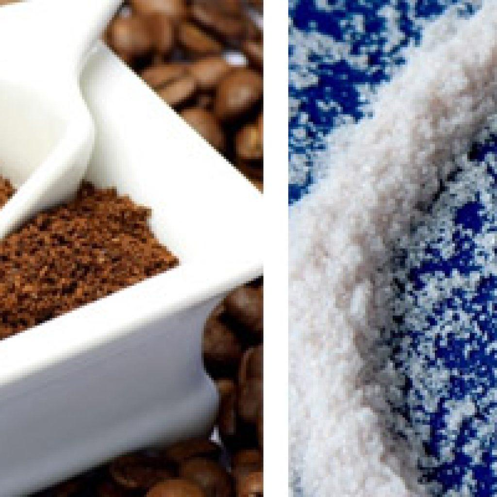 Кофе и соль в качестве скраба