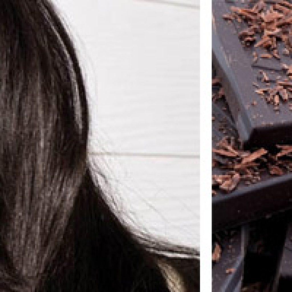 Локоны цвета шоколада