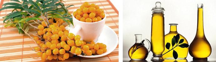 Облепиха и растительное масло