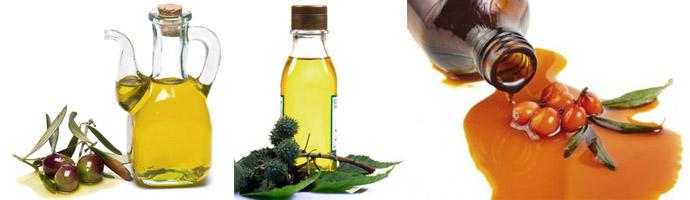 Оливковое, касторовое и облепиховое масла