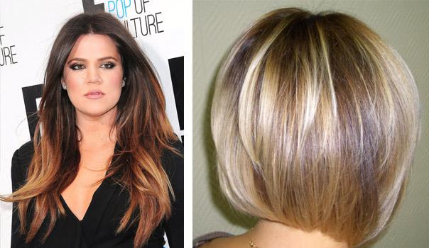 Фото окраски волос в два цвета