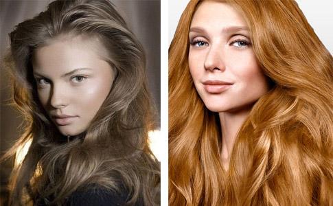 Средне- и золотисто-русые волосы