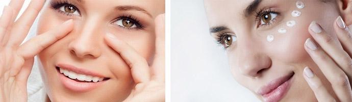Убираем морщины в области глаз