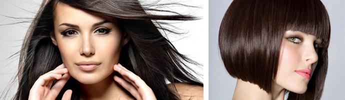Шоколадно-кофейные оттенки волос