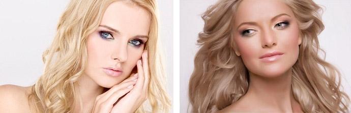 Блондинки с глазами серого цвета