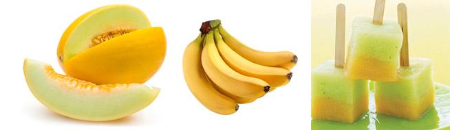 Лед из дыни и банана