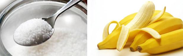 Маска из банана и соли