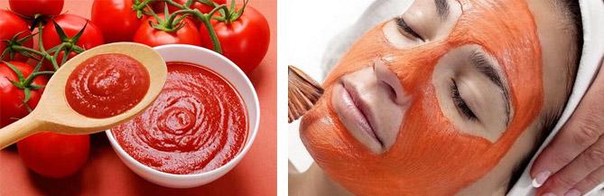 Маска на основе томатов