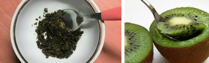Маска с водорослями и киви