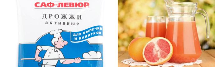 Маска с дрожжами и грейпфрутом