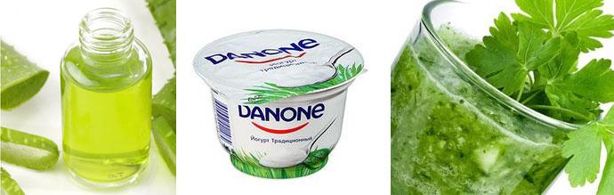 Маска с йогуртом