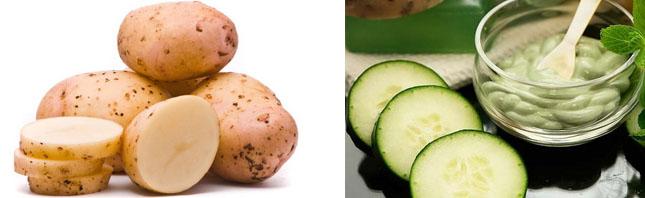 Маска с картофелем и огурцом