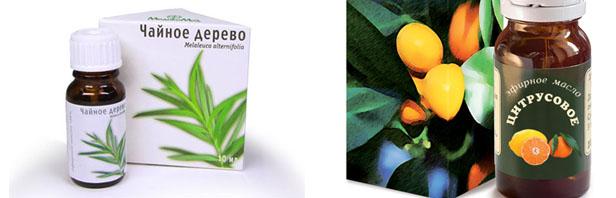 Масло чайного дерева и цитрусовое