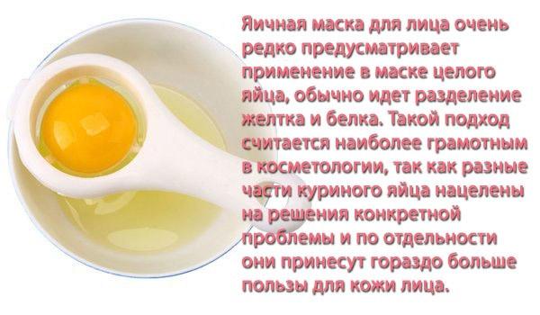 Польза яичных масок