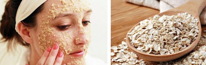 Применение геркулеса для питания кожи