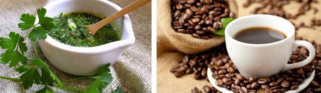 Применение настоя петрушки и кофе
