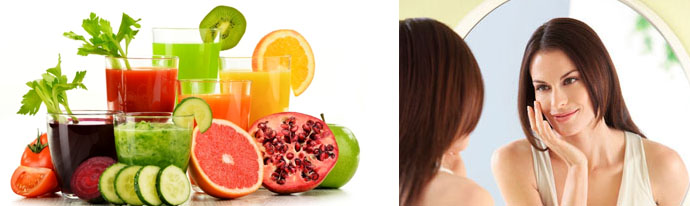 Рацион питания для красивой кожи