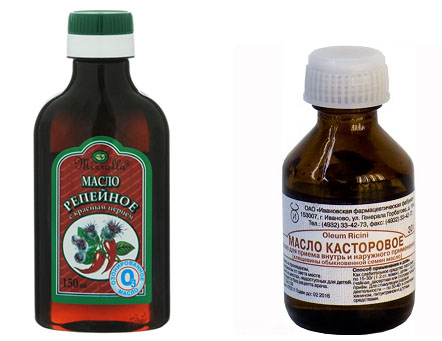 Репейное и касторовое масла