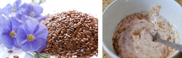 Семена льна и сметана