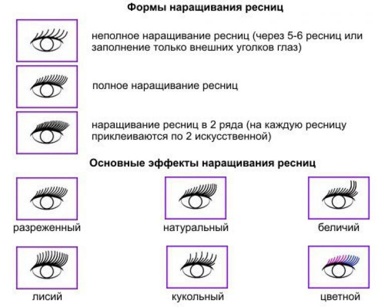 Как задать правильное направление ресницам при наращивании схема