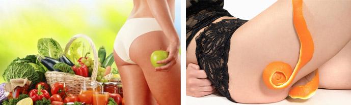Как избавится от целлюлита с помощью диеты