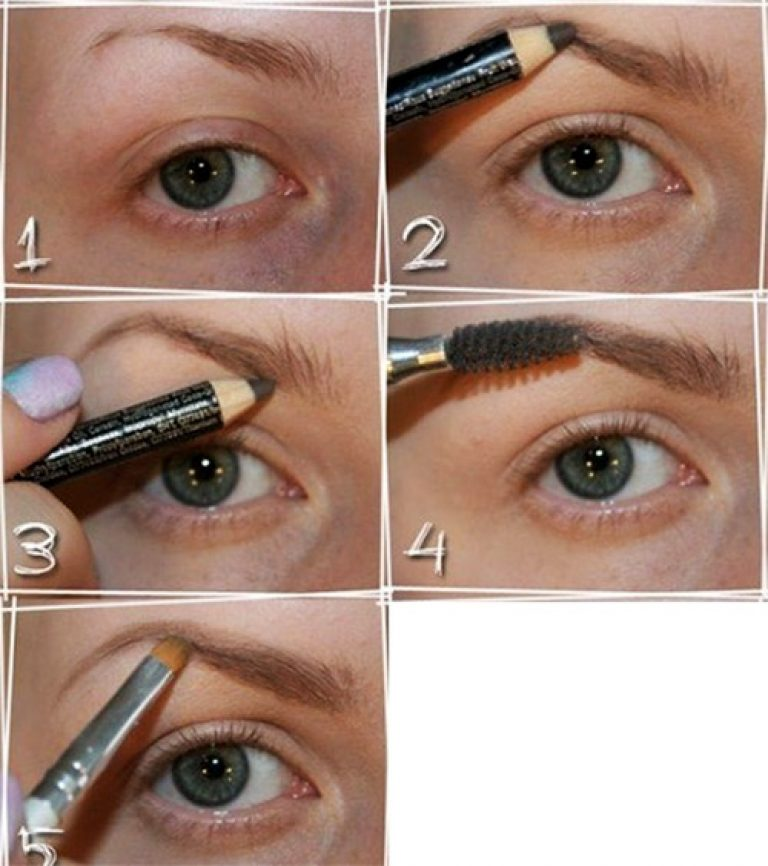 Как красиво нарисовать брови карандашом поэтапно фото макияж
