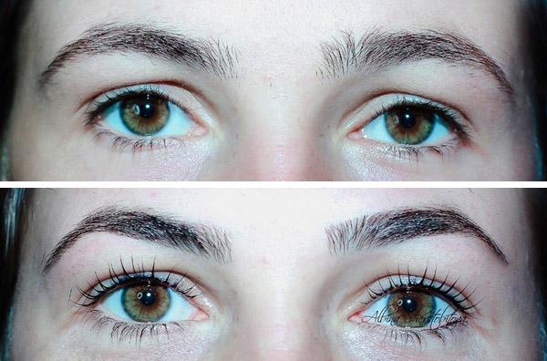 ламинирование бровей фото до и после отзывы