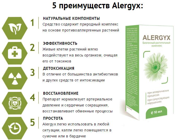 Преимущества Alergyx