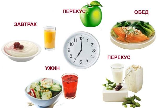 Примерный рацион питания