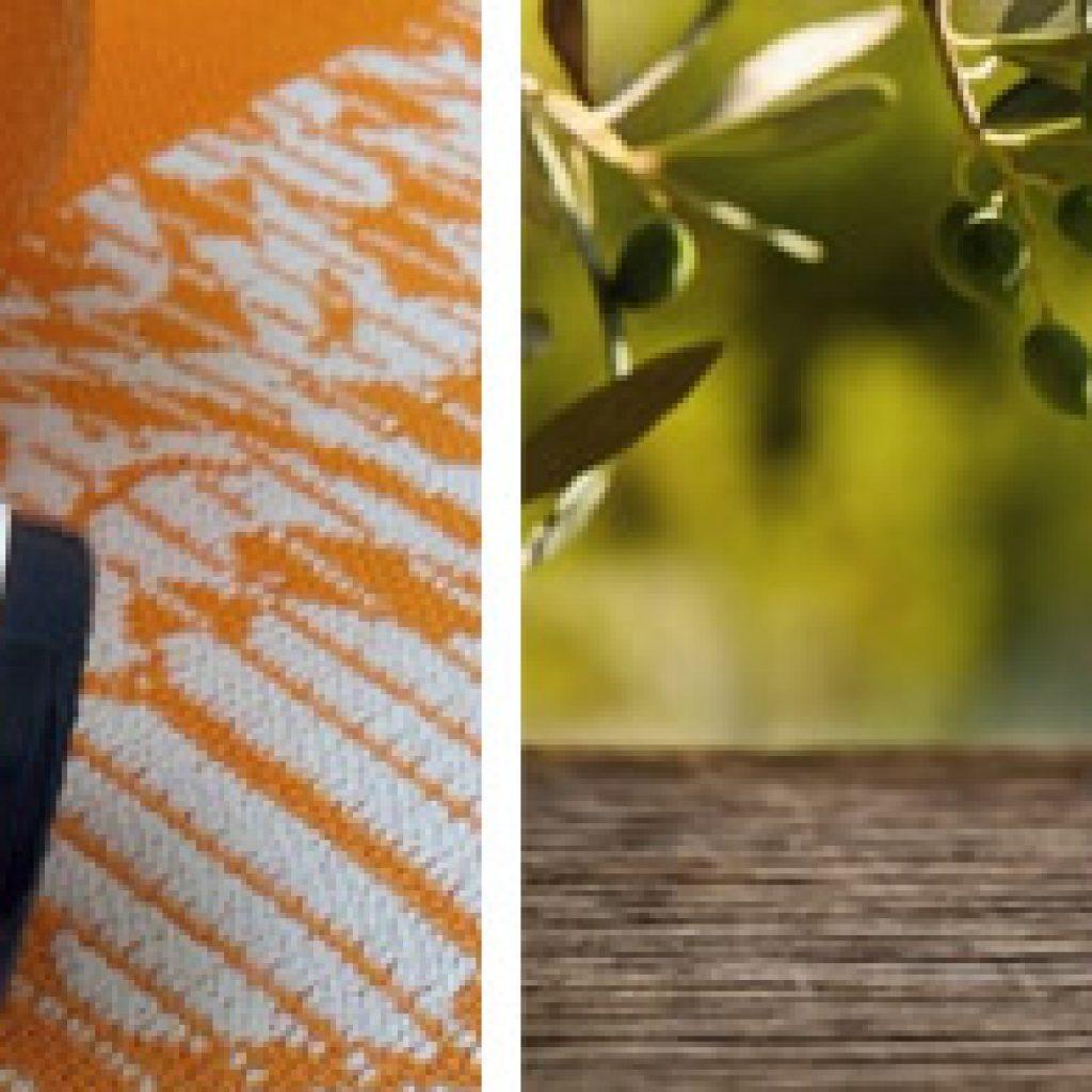 Смесь оливкового и апельсинового масел