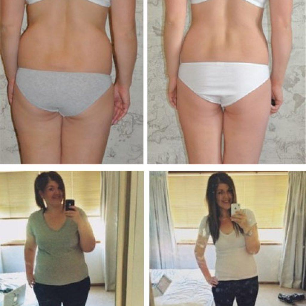 До и после упражнений