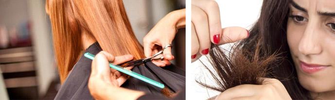 Как подравнять кончики волос
