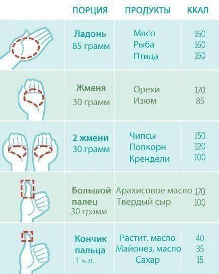 Как рассчитать объем порции