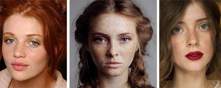 Варианты макияжа для лица с веснушками