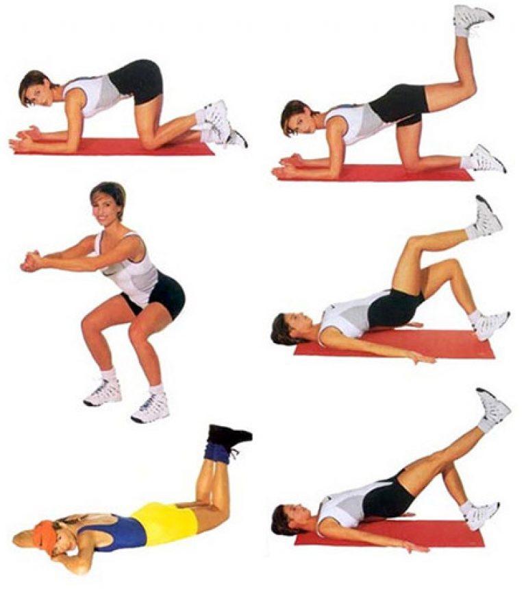 Упражнение для попы и пресса в домашних условиях