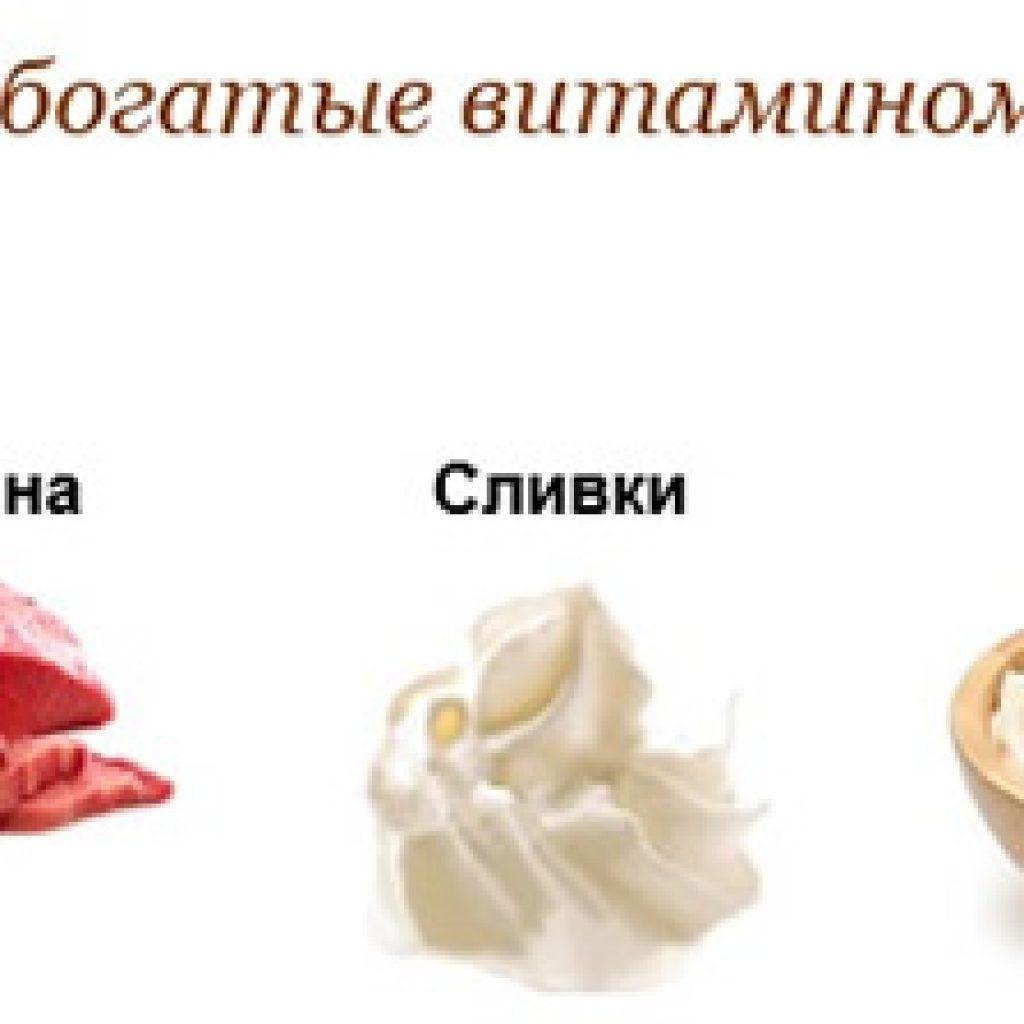 Продукты с витамином N