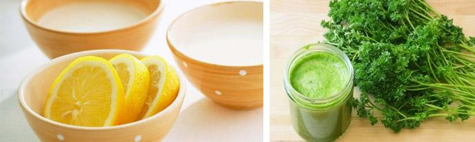 Сок лимона и петрушка