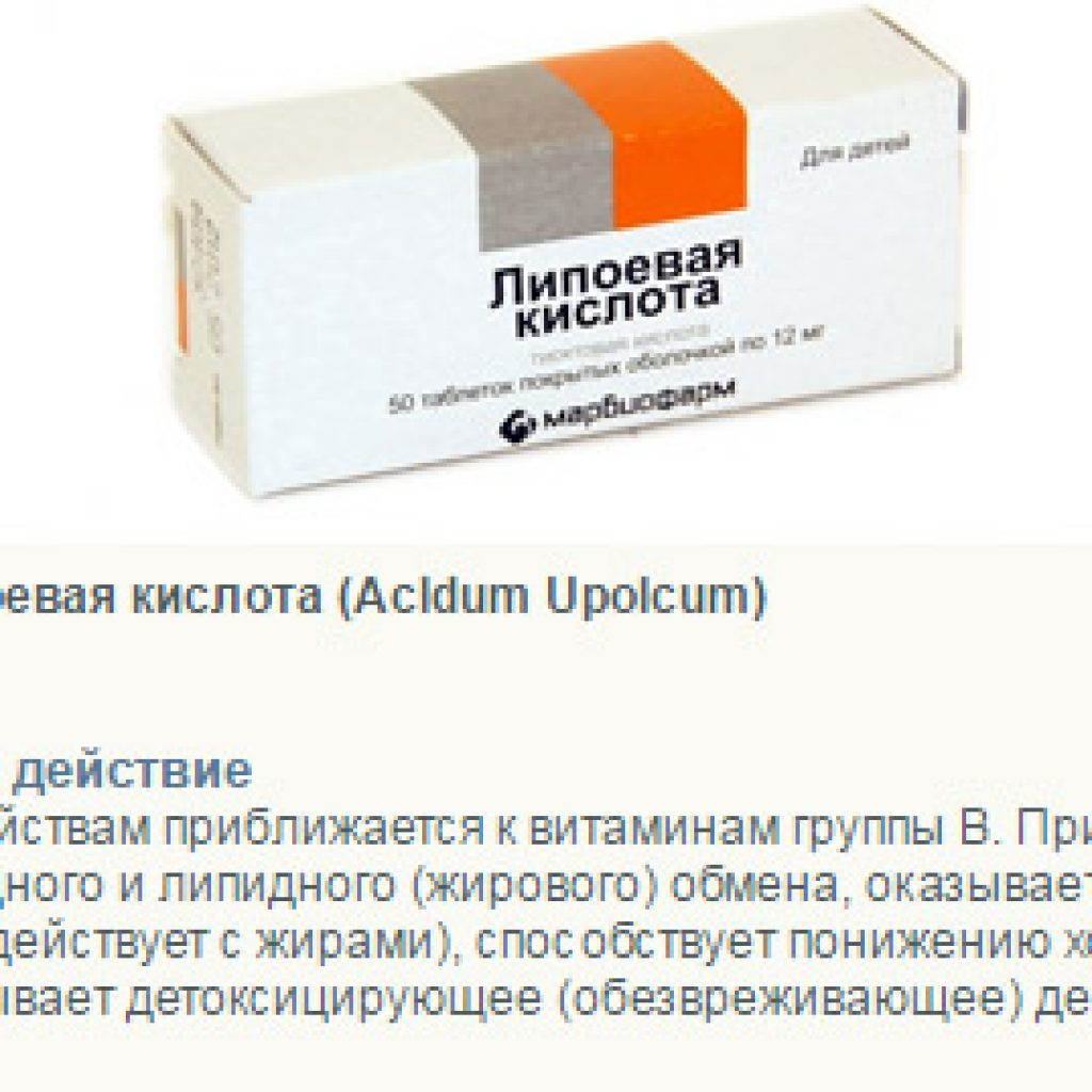 Фармакологическое действие таблеток