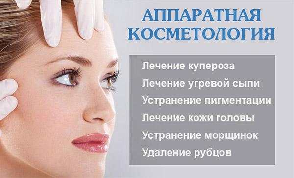 Эффективность процедур для лица