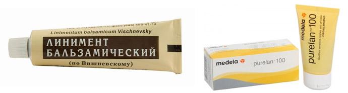 Бальзам Вишневского и Пурелан-100